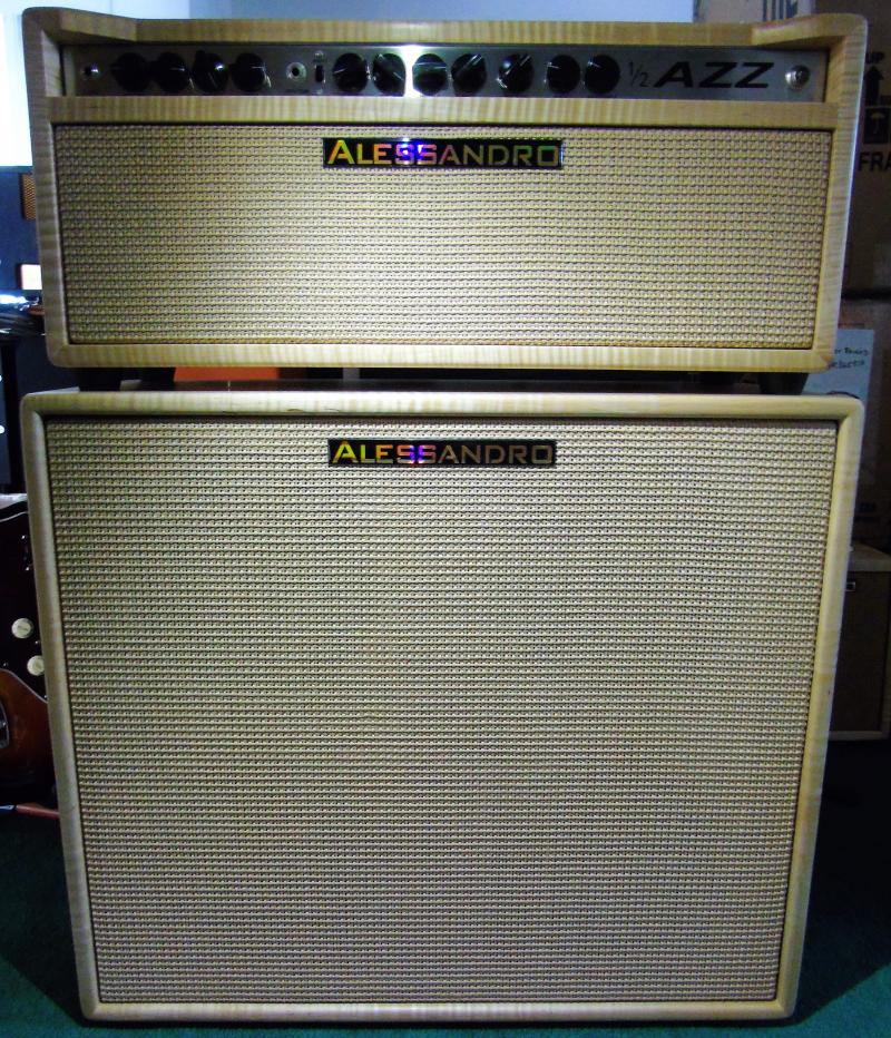 Alessandro 1/2 AZZ Amplifier Head & 4x12 Cabinet Figured Maple