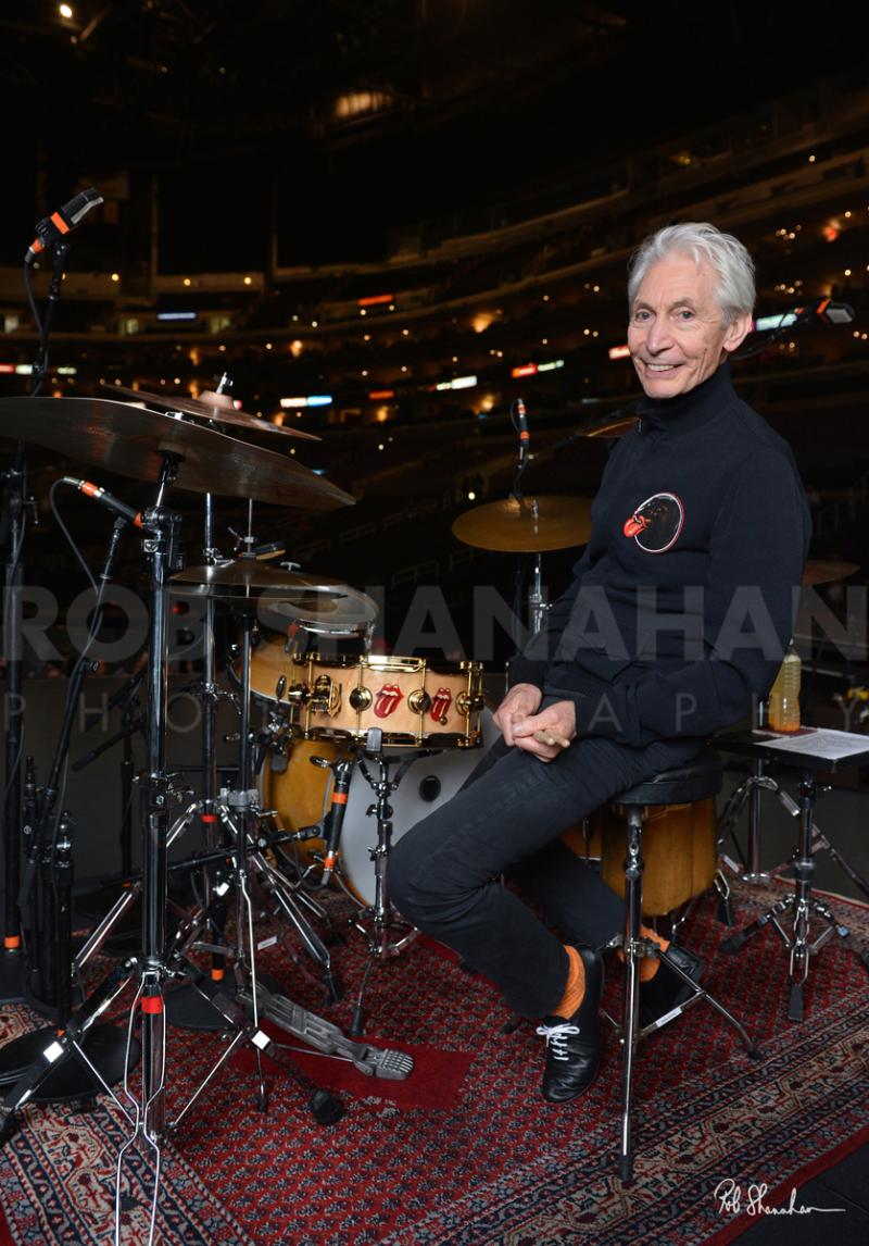 "Rob Shanahan Charlie Watts ""Gentleman Drummer"" Limited Edition Metal Prin"