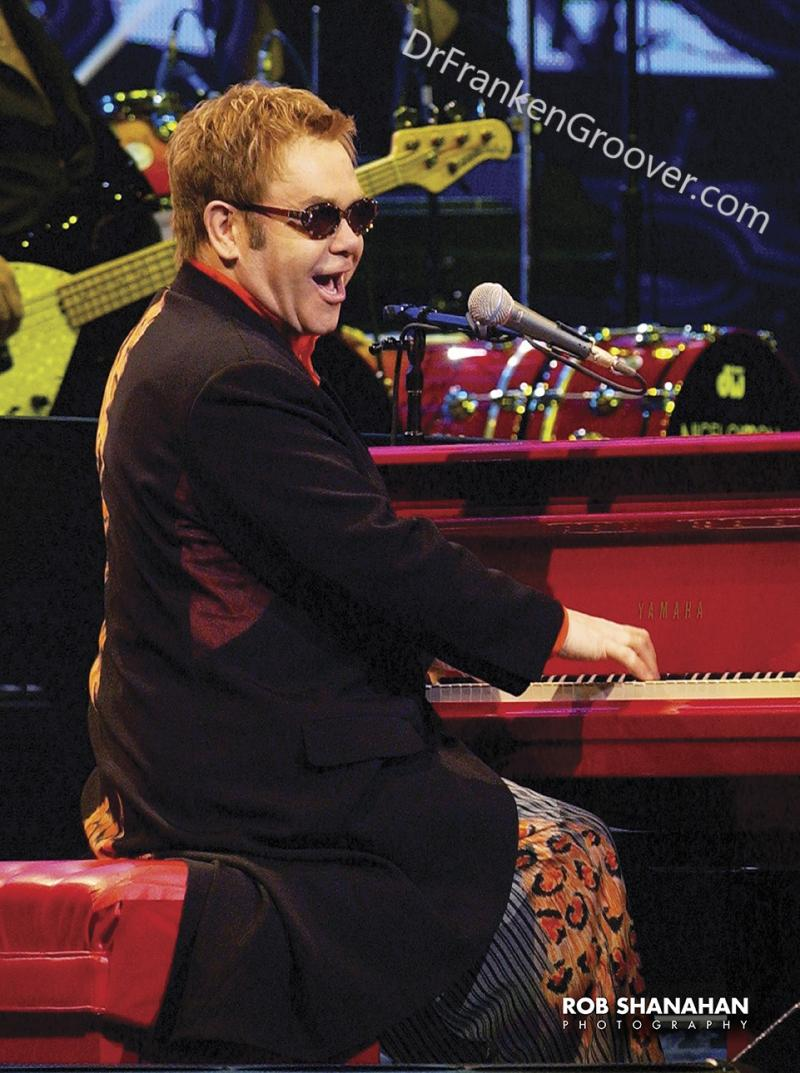 Elton John, Red Piano by Rob Shanahan